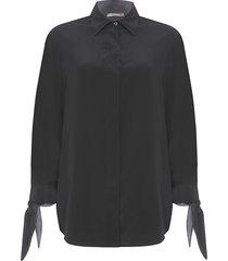 camisa feminina marina - preto