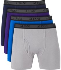 alfani men's 4-pk. mesh boxer briefs, created for macy's