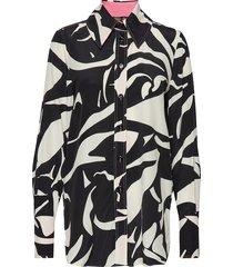 james, 663 silk placements overhemd met lange mouwen zwart stine goya