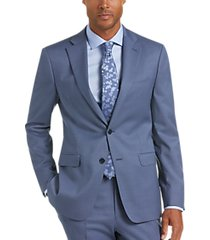 calvin klein x-fit blue tic slim fit suit