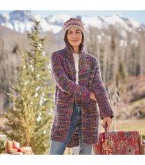 sundance catalog women's ainsley highland cardigan - petites petite 2xs