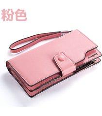 gran capacidad cartera para mujer/ long ladies wallet-rosa