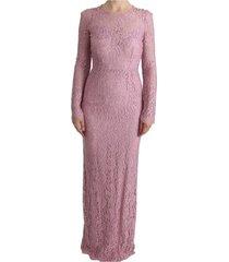 floral lace schede lange jurk