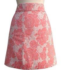 ann taylor loft mauve & beige floral career casual sz 10r - 4p -12p mini skirt