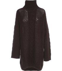 nanushka diya oversized sweater high neck