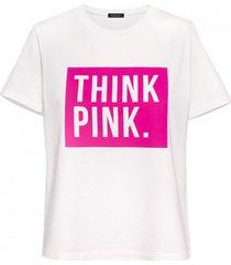 t-shirt thinkpink biały