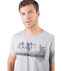 t-shirt estampada moline motorbikers cinza cinza/p - kanui