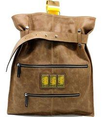 mochila de cuero suela leblu