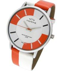 reloj naranja montreal pulsera