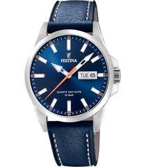 reloj festina modelo f20358/3 azul oscuro hombre