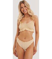 na-kd lingerie mesh-string - beige