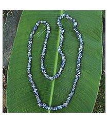 sodalite beaded necklace, 'light of peace' (brazil)