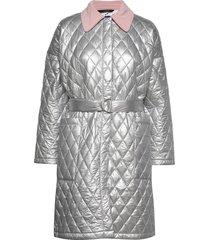 palma coat gevoerde lange jas zilver résumé