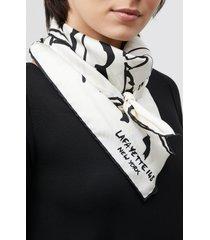 lafayette 148 new york urban garden print silk scarf in black multi at nordstrom