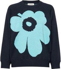 lohdukas unikko knitted pullover gebreide trui blauw marimekko