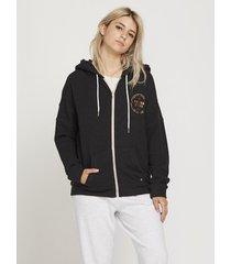 sweater volcom women's lil zip hoodie