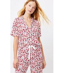 loft cherry pajama top