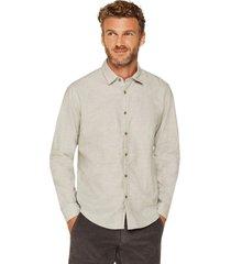 camisa algodón gris esprit