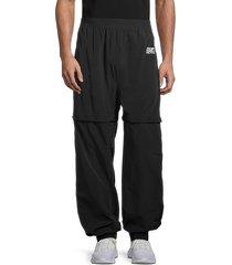 off-white men's convertible track pants - black silver - size l