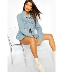 oversized jean jacket, light blue