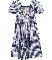 bessie gingham-check cotton poplin dress