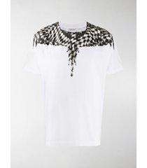 marcelo burlon county of milan cross pattern wings t-shirt