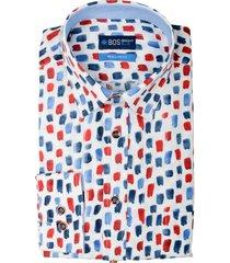 bos bright blue ward shirt casual hbd 20307wa55bo/500 multicolour