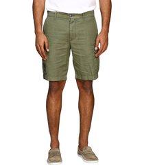 eleventy short eleventy kargo bermuda shorts in cotton and linen