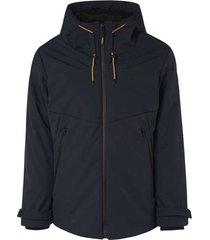 jacket long fit hooded parka