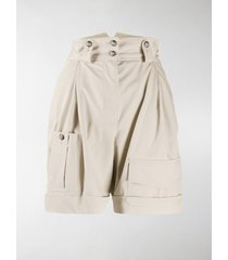 dolce & gabbana high waisted army shorts