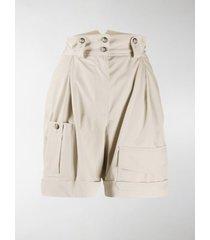 dolce & gabbana high waisted army shorts