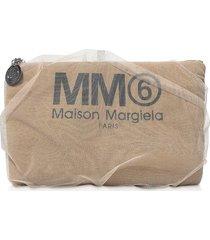 mm6 maison martin margiela nude signature pouch