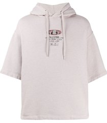 eytys relaxed logo print hoodie - neutrals