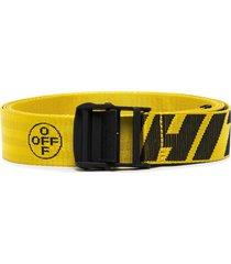 off-white industrial logo belt - yellow
