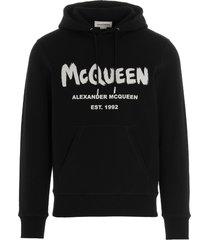 alexander mcqueen graffiti hoodie