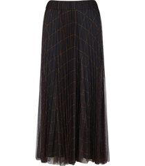brunello cucinelli dark grey tulle skirt