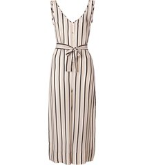 asceno striped tailored jumpsuit - neutrals