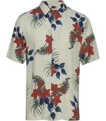 aop s/s resort shirt overhemd met korte mouwen wit junk de luxe