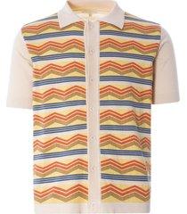 far afield zigger short sleeve cardigan | multi | afkn207-mul