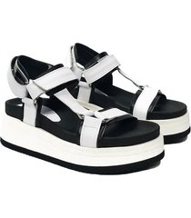 sandalia blanca vercal