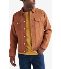 lucky brand men's suede trucker jacket