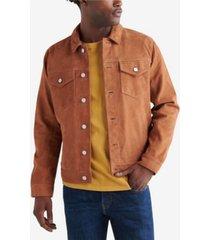 lucky brand men's suede trucker jacket