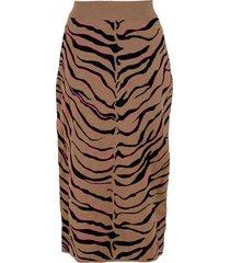 compact tiger skirt