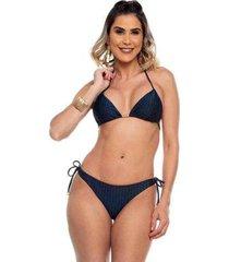 biquini cortininha ripple trabalhado dunas maré brasil feminino - feminino