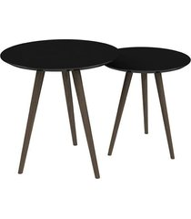 conjunto de mesa redondo pinoquio preto
