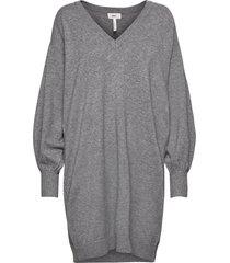 objlisette l/s knit dress 113 dresses knitted dresses grå object