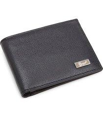 royce new york men's rfid bi-fold leather wallet - black
