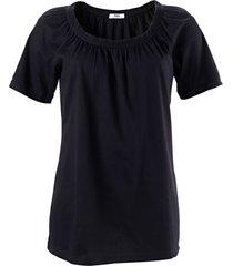 maglietta in cotone con scollo a barca elastico (nero) - bpc bonprix collection