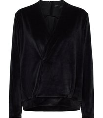 pirou top velvet sweat-shirt tröja svart moshi moshi mind