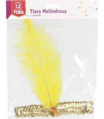 tiara le melindrosa amarelo